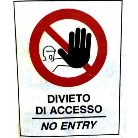 Cartello Divieto di Accesso per Cavalletto Bifacciale