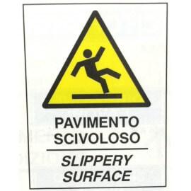 Pavimento scivoloso ( Cartello per Cavalletto Bifacciale )