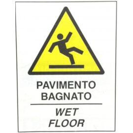 Pavimento Bagnato ( Cartello per Cavalletto Bifacciale )