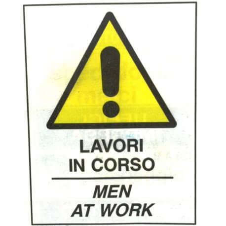Lavori in Corso ( Cartello per Cavalletto Bifacciale )