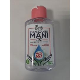 Gel Igienizzante Mani, Soluzione Idroalcolica 65%, Flaconcini da 80 ml (indicato per Corona Virus) - Pacco da 12 pezzi